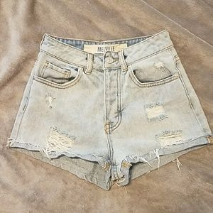 Brandy Melville high waisted destroyed jean shorts